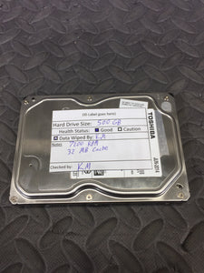 "Toshiba DT01ACA050 3.5"" SATA 7200RPM 32MB Cache 500GB HDD Tested Good - AsIsStuff"