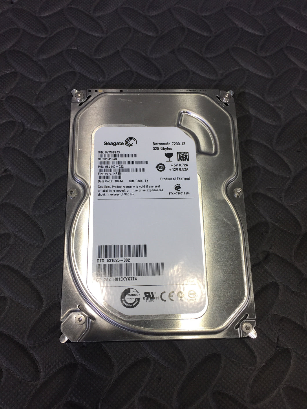 "Seagate ST3320418AS 3.5"" SATA 7200RPM 16MB Cache 320GB HDD Caution Status - AsIsStuff"