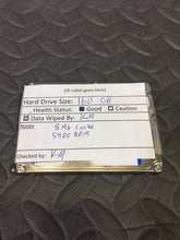 "Western Digital WD1600BEVT 2.5"" SATA 5400RPM 8MB Cache 160GB HDD Tested Good! - AsIsStuff"