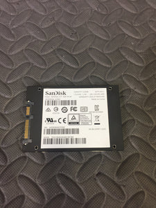 "SanDisk SDSSDA-120G 120GB 2.5"" SATA Solid State Drive SSD Plus Tested Good! - AsIsStuff"