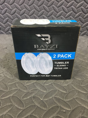 Bayzi 30oz Sliding Tritan Lids 2 Pack for Yeti, Ozark Trail, and More! - AsIsStuff