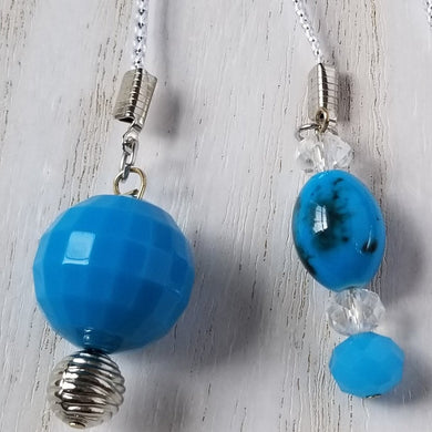 Handmade Blue Planner Dangle Charms Bookmark 3