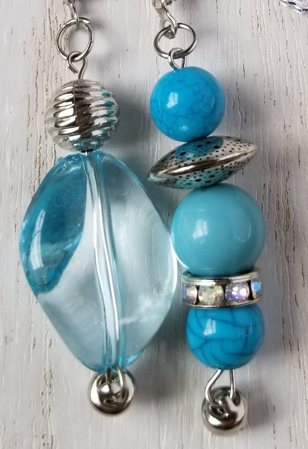 Handmade Blue Planner Dangle Charm Bookmark 4