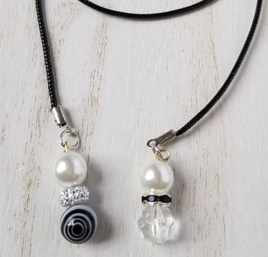 Handmade Black & White Planner Dangle Charms Bookmark 2