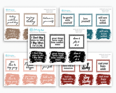Notes To Self - Word Art Collection - Typography Stickers - Planner Stickers - Decorative