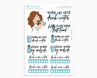 Amanda - Wake Up and Drink Water - Planner Girl - Level Up Habit Planner Stickers