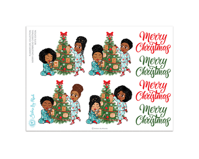 Merry Gingerbread Christmas Bestie Edition - Christmas Stickers - Holiday Stickers