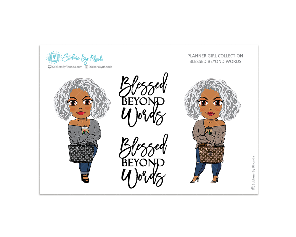 Sylvia -  Limited Edition - Blessed Beyond Words - Planner Girl Collection