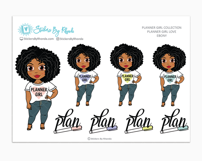 Ebony - Planner Girl Love - Limited Edition - Planner Girl Stickers