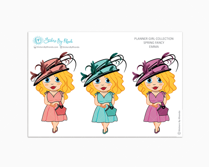 Emma -  Spring Fancy - Limited Edition - Planner Girl Collection - Planner Stickers