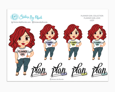 Lizzy - Planner Girl Love - Limited Edition - Planner Girl Stickers