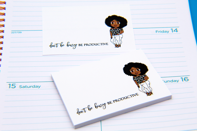 Ebony Be Productive Post-it® Notes - Sticky Notes