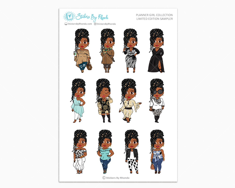 Jackie With Locs - Limited Edition Planner Girl Sampler