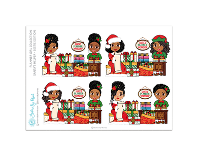Santa's Helper Bestie Edition - Christmas Stickers - Holiday Stickers