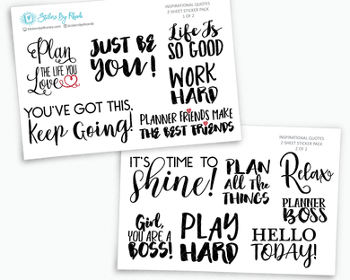 Inspirational Quote Planner Stickers - Word Art Collection