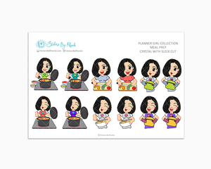 Crystal With Sleek Cut - Meal Prep/Cooking Planner Stickers