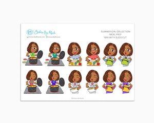 Mia With Sleek Cut - Meal Prep/Cooking Planner Stickers