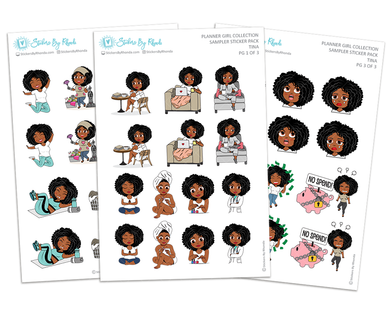 Tina - Sampler Sticker Pack - Planner Girl Collection