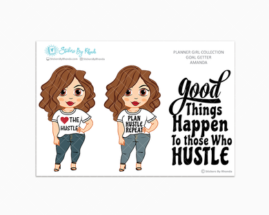 Amanda - Love The Hustle - Limited Edition - Planner Girl Stickers