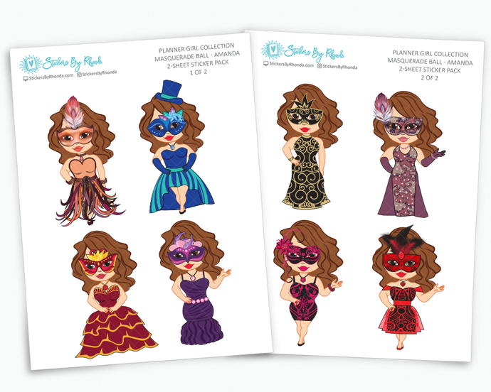 Limited Edition Masquerade Ball Planner Stickers - Planner Girl Collection