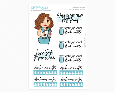Amanda - Water Is My Best Friend - Planner Girl - Level Up Habit Planner Stickers