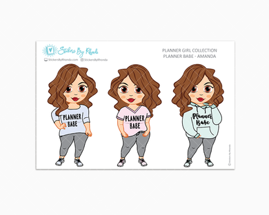 Amanda - Limited Edition - Planner Babe Stickers