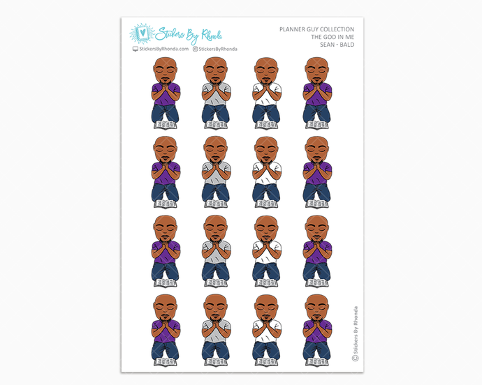 Sean Bald - The God In Me - Planner Guy Stickers