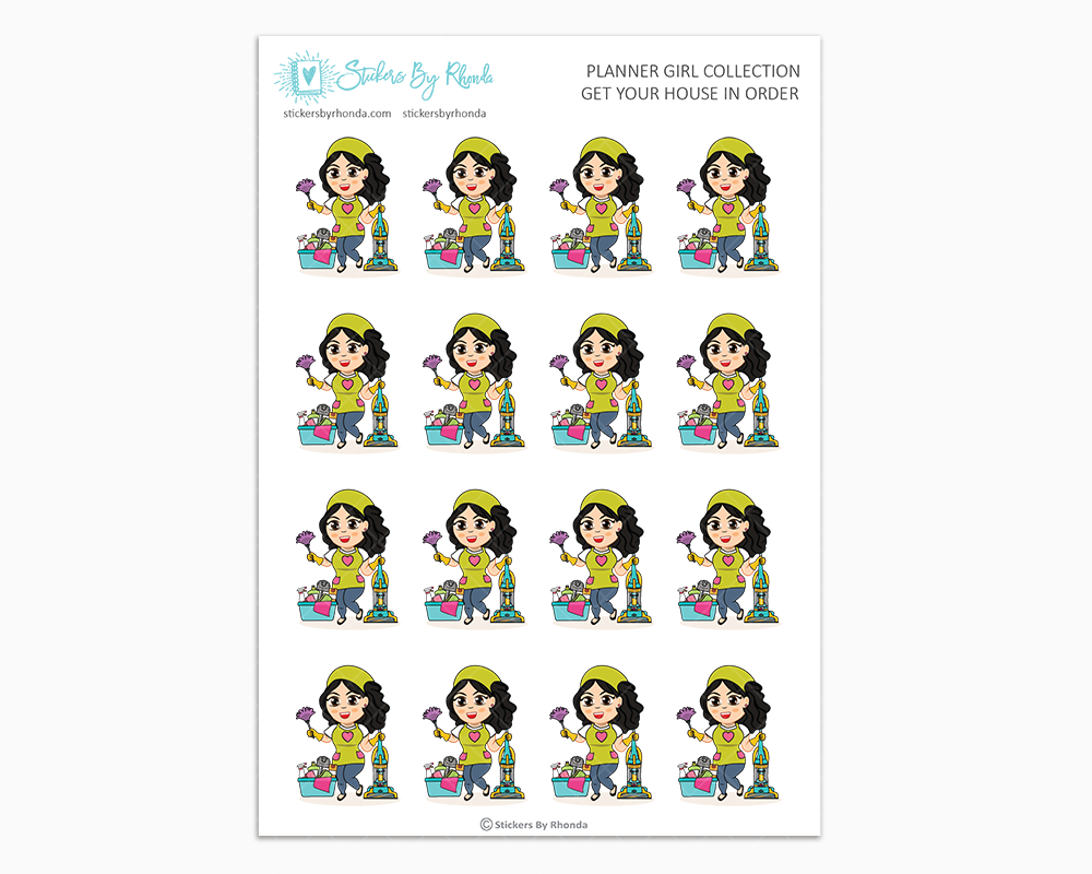 Crystal - Get Your House In Order - Planner Girls Only - Cleaning Stickers