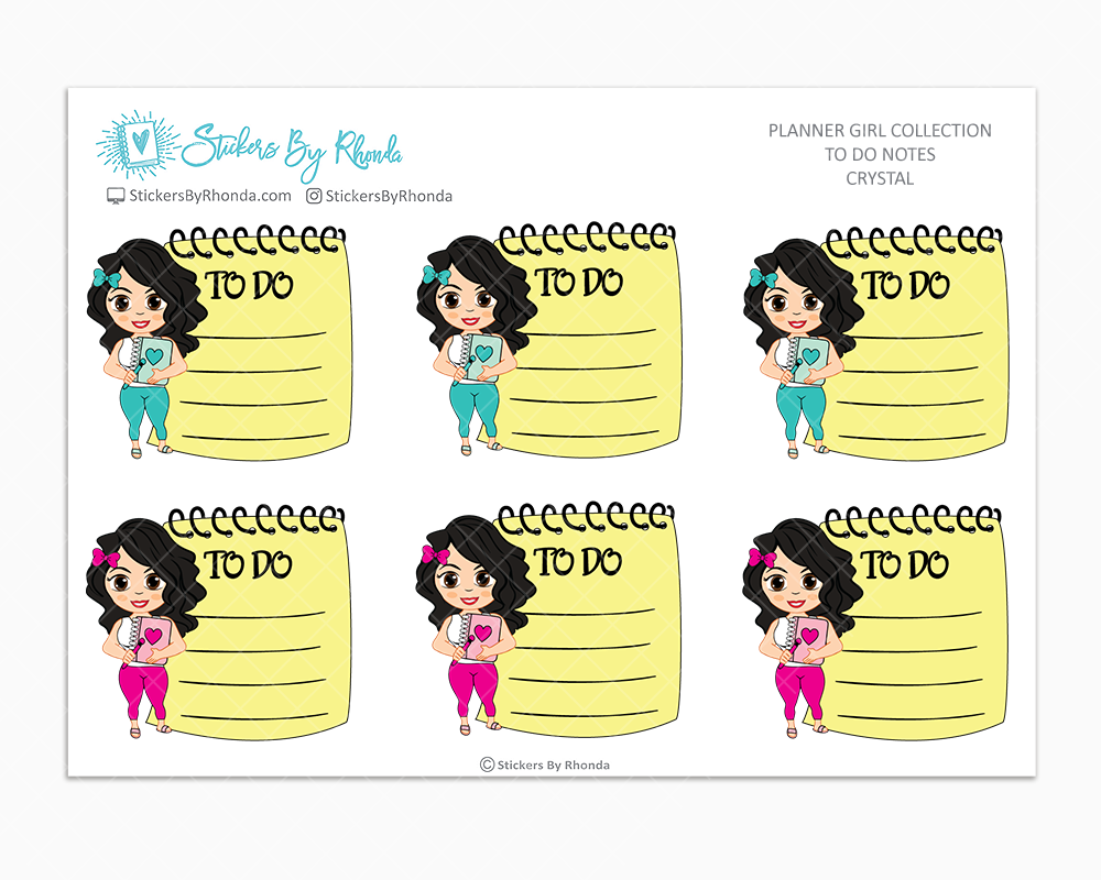 Crystal - To Do Notes - Planner Stickers - Planner Girl Stickers