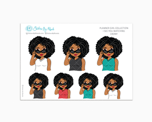 Ebony - I See You Watching -  Limited Edition - Planner Girl Collection