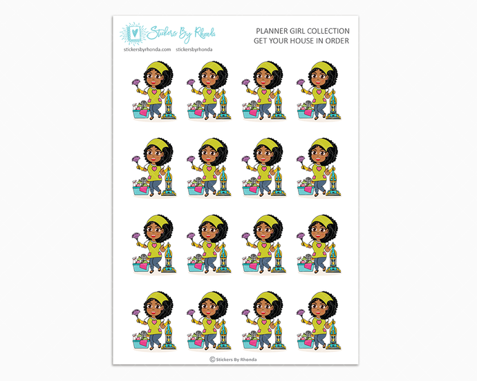 Ebony - Get Your House In Order - Planner Girls Only - Cleaning Stickers
