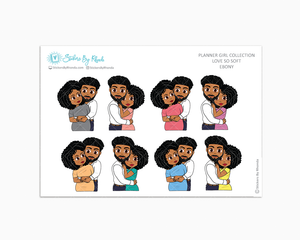 Ebony - Love So Soft - Planner Stickers