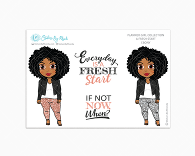 Ebony - Limited Edition - A Fresh Start - Planner Girl Collection