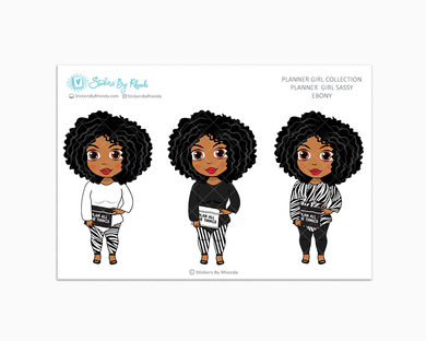 Ebony -  Limited Edition - Planner Girl Sassy - Planner Girl Collection