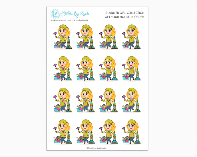 Emma - Get Your House In Order - Planner Girls Only - Cleaning Stickers