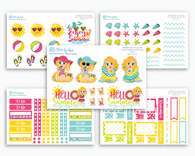 Emma - Hello Summer Matte Planner Stickers - Planner Girl Collection