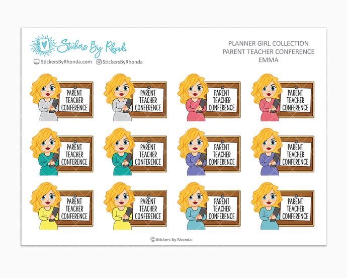 Emma - Parent Teacher Conference - School Stickers