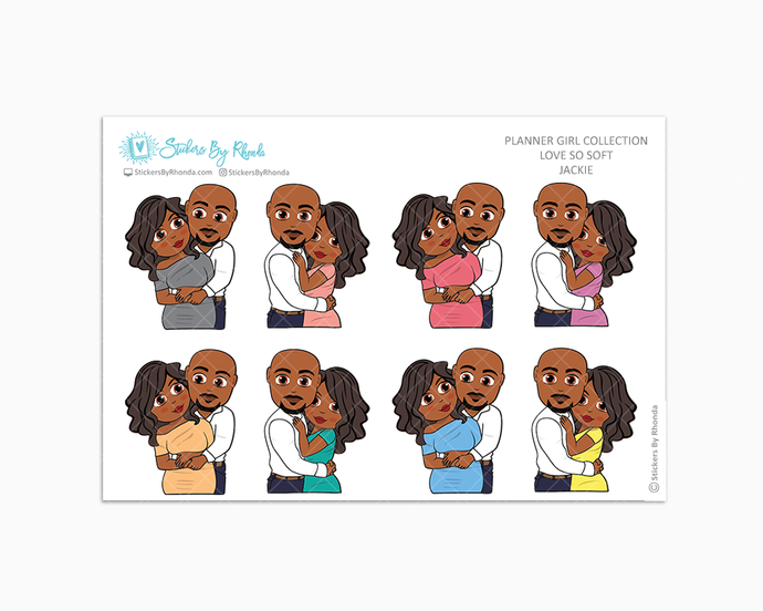 Jackie - Love So Soft - Planner Stickers