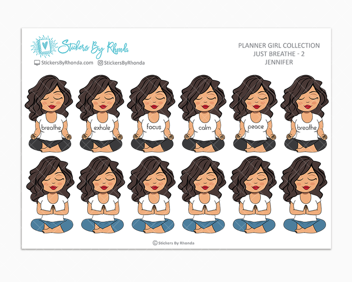 Jennifer - Just Breathe 2 - Planner Stickers