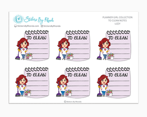 Lizzy - To Clean Notes - Planner Stickers - Planner Girl Stickers
