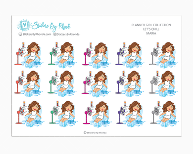 Maria  - Let's Chill - Planner Stickers