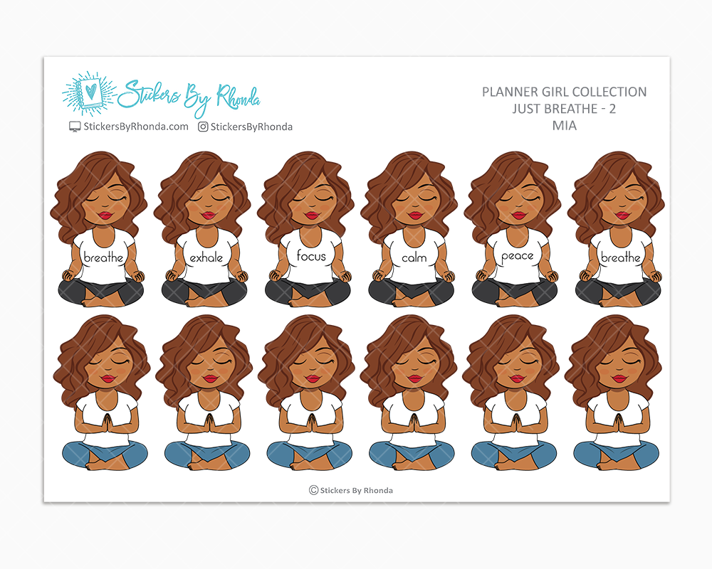 Mia - Just Breathe 2 - Planner Stickers