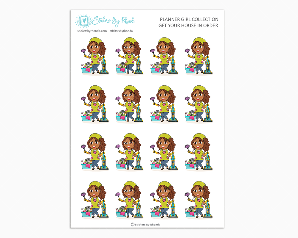 Mia - Get Your House In Order - Planner Girls Only - Cleaning Stickers