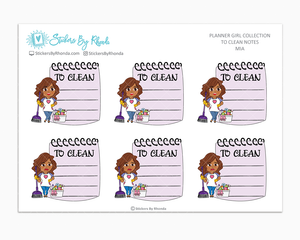 Mia - To Clean Notes - Planner Stickers - Planner Girl Stickers
