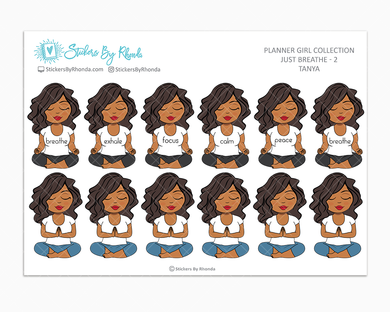 Tanya - Just Breathe 2 - Planner Stickers