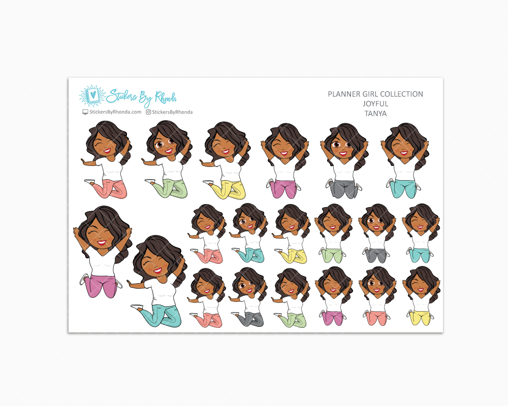 Tanya - Joyful Planner Stickers