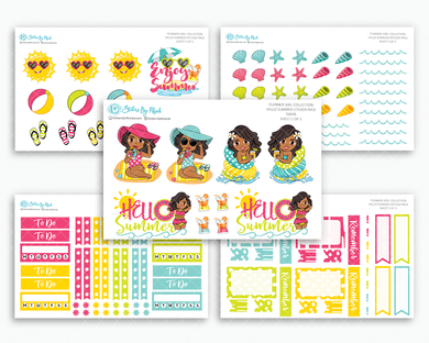 Tanya - Hello Summer Matte Planner Stickers - Planner Girl Collection