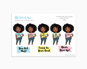 Tina - Goal Getter - Limited Edition - Planner Girl Stickers