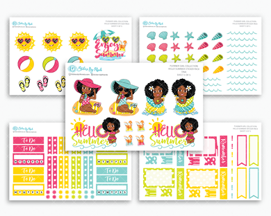 Tina - Hello Summer Matte Planner Stickers - Planner Girl Collection