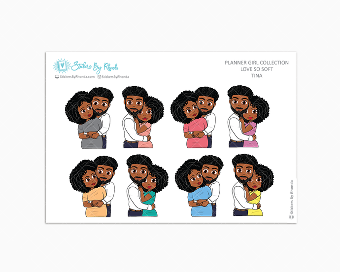Tina - Love So Soft - Planner Stickers